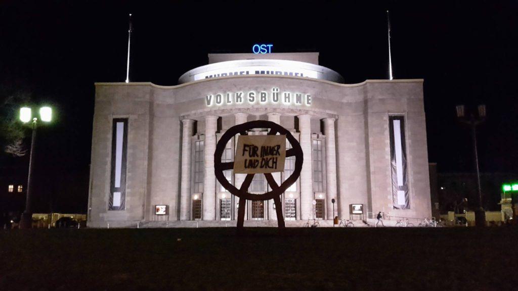 Blick auf die Berliner Volksbühne.